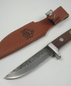 Puma Tec Damascus Apitong Wood Hunting Knife