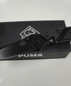 PUMA TEC Folding Pocket Knife With G10 Grip Cups