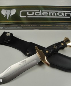 Cudeman Bowie Knife With 24° Gold Fittings Blade