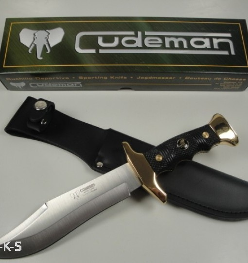 Cudeman Bowie Knife With 24 Gold Fittings Blade (1)