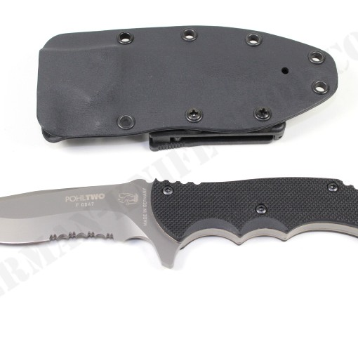 Eickhorn Pohl Two G10 Hunting Knife (Half Serrated) # 825145 003