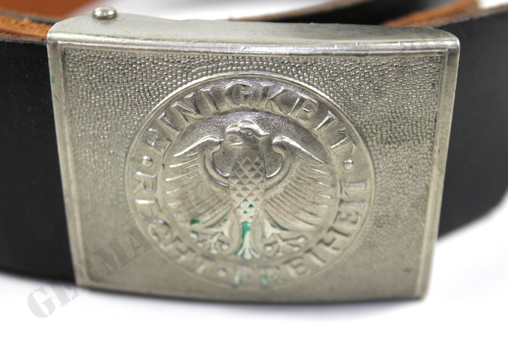 German Army Leather Belt included Belt Buckle (Used)