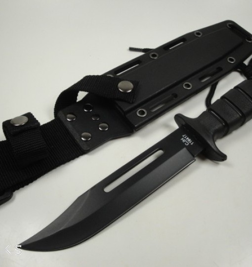 Herbertz Bowie Knife Black Kalgard Coated Blade2