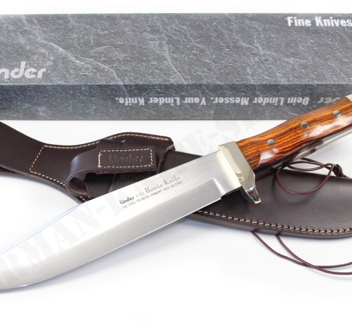 LINDER DELUXE BOWIE KNIFE WITH COCOBOLA HANDLE 176325 001