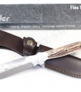 LINDER HUNTING KNIFE MODEL TRAPPER WITH STAG HANDLE