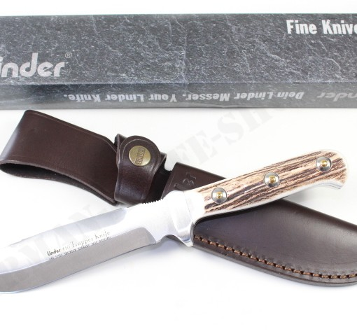 LINDER HUNTING KNIFE MODEL TRAPPER WITH STAG HANDLE 178415 002