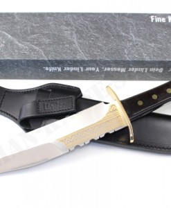 Linder Yukon Bowie Collectors Knife Gold Etchings