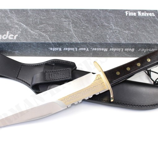 LINDER YUKON BOWIE COLLECTORS KNIFE WITH GOLD ETCHINGS 171025 003