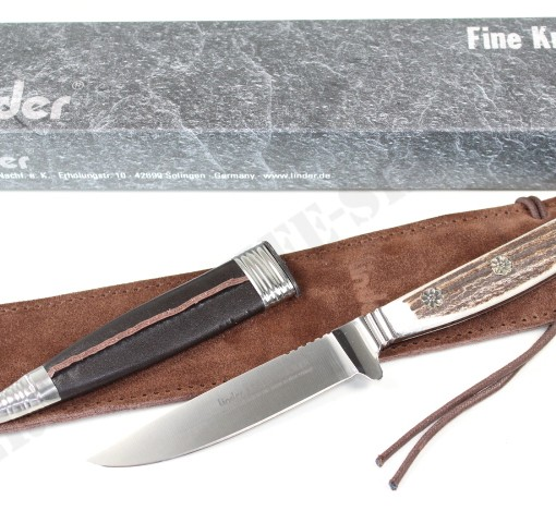 Linder ATS 34 Hunting Nicker Stag Knife 166410 005