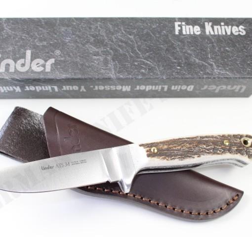 Linder ATS34 Custom Stag Knife # 103110 001