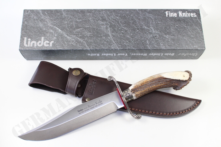 Linder Classic Stag Crown Bowie Knife German Knife Shop