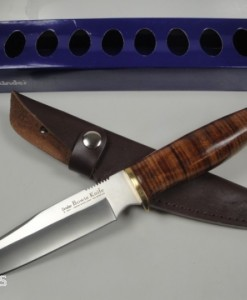 Linder Bowie Knife With Leather Handle & Sheath