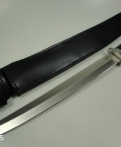 Linder Tanto Knife With Leather Sheath