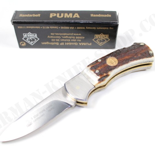 Puma 4-Star Mini Stag Folding Knife # 210700 001