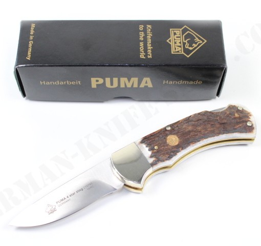 Puma 4-Star Stag Folding Knife # 210745 001
