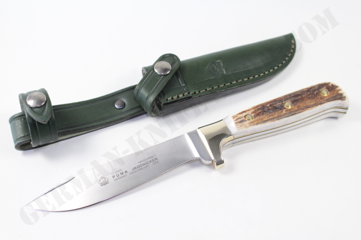 Puma Jagdnicker Knife With Leather Sheath German Knife Shop