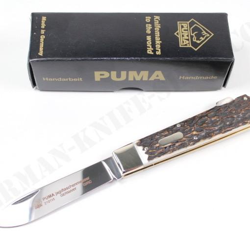 Puma Jagdtaschenmesser 1 Hunting Stag Folder # 210111 001