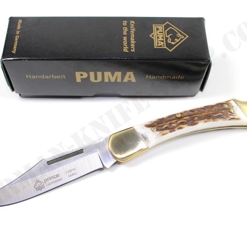 Puma Prince Stag Folding Knife # 210910 001