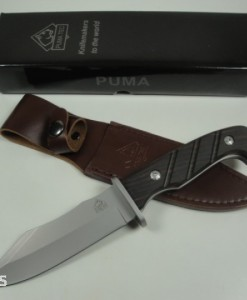 Puma Tec Bowie Sandal Wood Hunting Knife