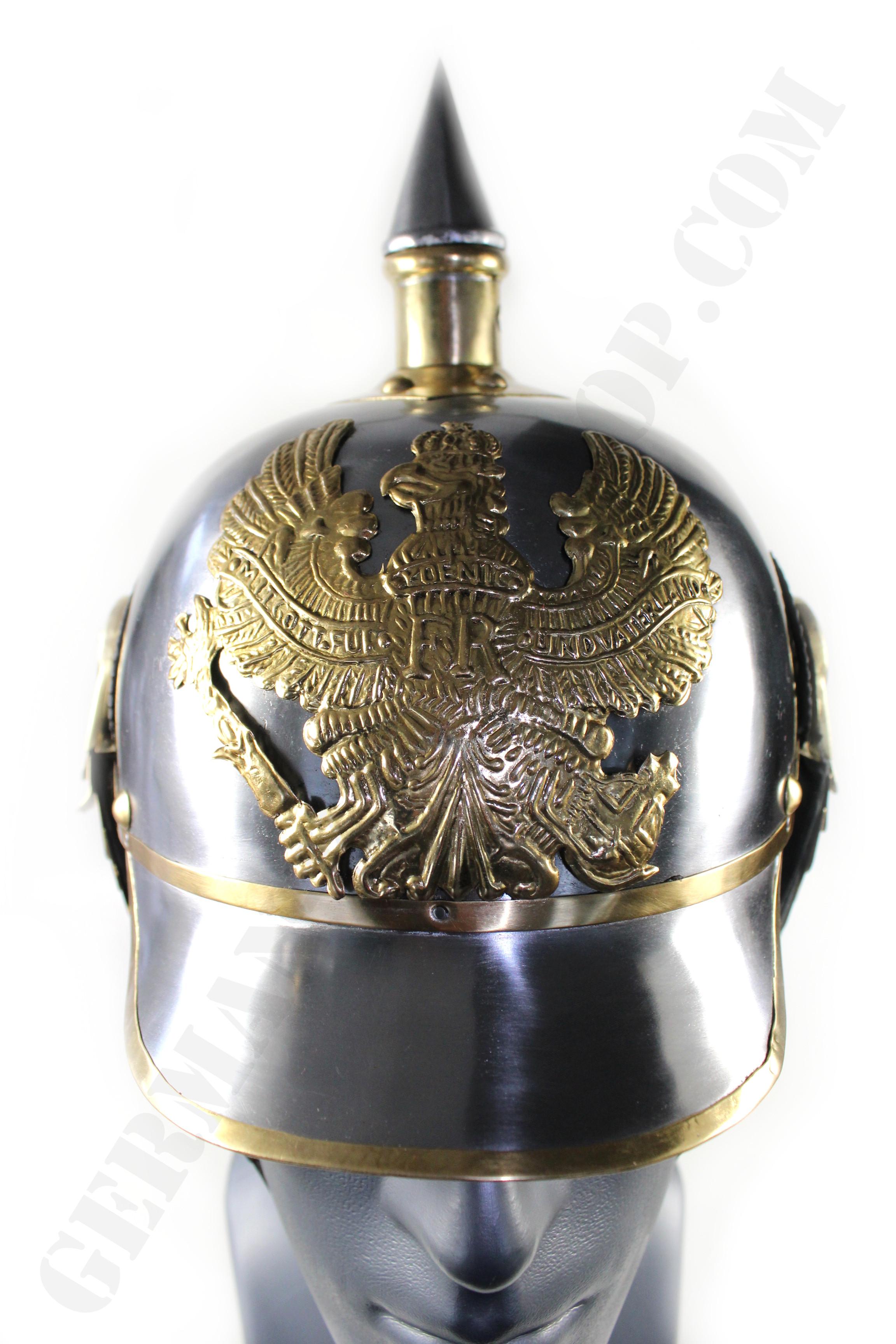 Prussian Kurassier Pickelhaube Spiked Lobster Tail Helmet