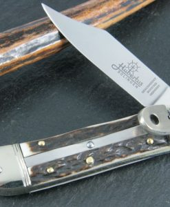 Hubertus Switchblade Springer Knife Small Buckhorn for sale