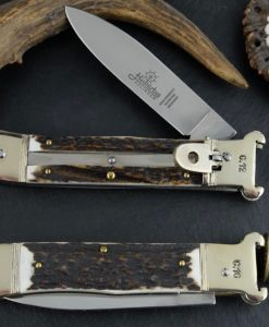 Hubertus Switchblade Springer Knife Cartridge Ejector Stag for sale