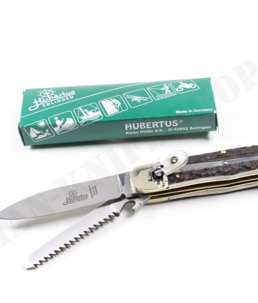 Hubertus Switchblade Springer Knife Large With Saw
