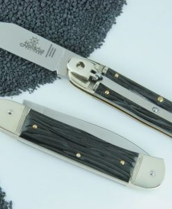 Hubertus Switchblade Springer Knife Small Bone Buffalo for sale
