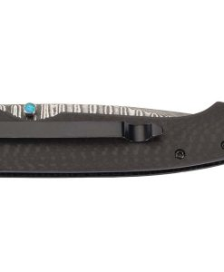 Puma TEC knife, Damascus steel, liner lock, carbon fiber shells for sale