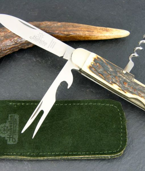 Hubertus Take-Apart Picnic Knife Stag Deluxe
