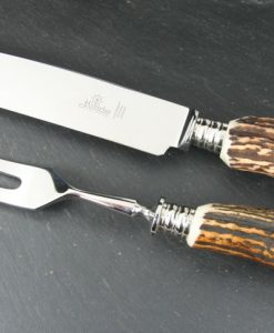 Hubertus Carving Set Stag for sale