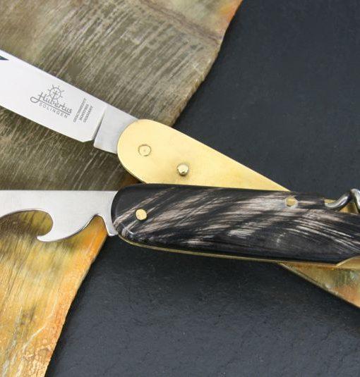 Hubertus Take-Apart Picnic Knife Buffalo Horn