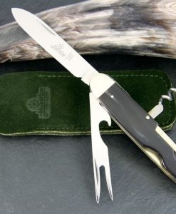 Hubertus Take-Apart Picnic Knife Wood Deluxe for sale