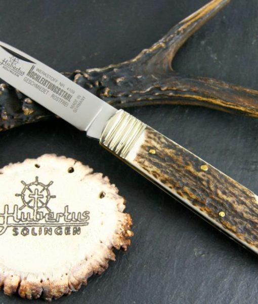Hubertus Folding Knife Stag 2.95″