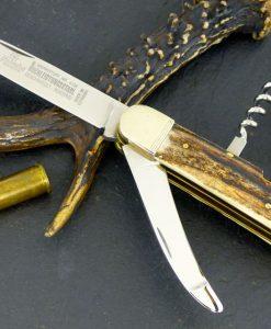 "Hubertus Folding Knife 3.15"" Gutting Blade & Corkscrew for sale"