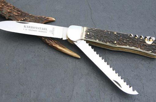 Hubertus Folding Knife 4.13″ Saw & Corkscrew