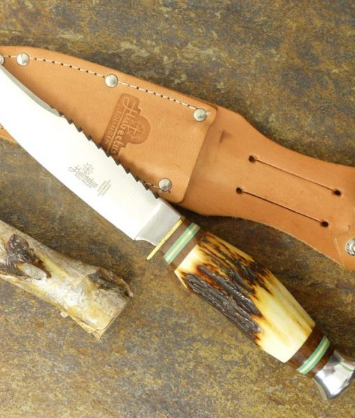 Hubertus Hunting Knife 5.1″ With Back Saw
