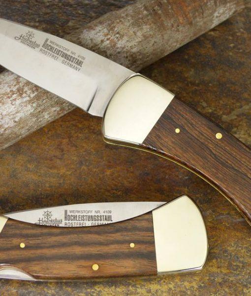 Hubertus Bocote Back Lock Pocket Knife