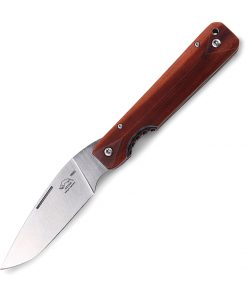 Otter Liner-Lock Beluga Folding Knife Plum Wood for sale