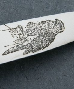 Hubertus Falconer Hunting Knife Hawk Etching for sale